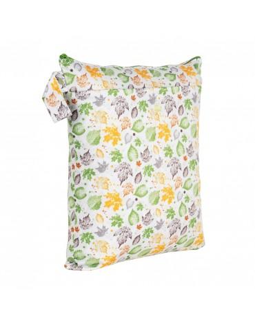 Săculeț impermeabil reutilizabil - mediu - Leaves - Baba Boo