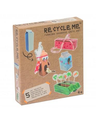 Transformă deșeurile în jucării - cutie de lapte - Re-cycle-me