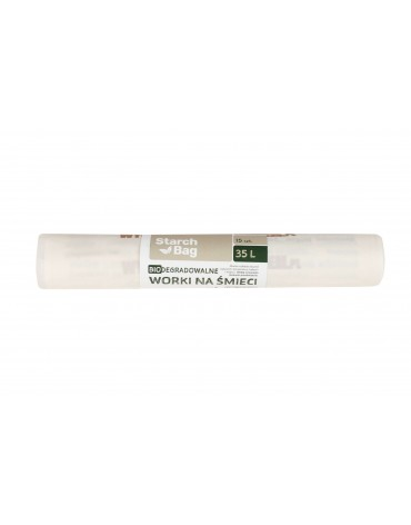 Saci de gunoi biodegradabili - 35l - 15buc. - StarchBag